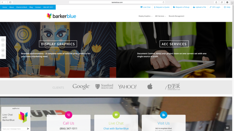 barkerblue website design and development