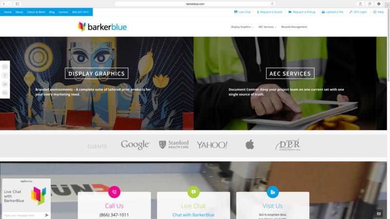 barkerblue website design and development