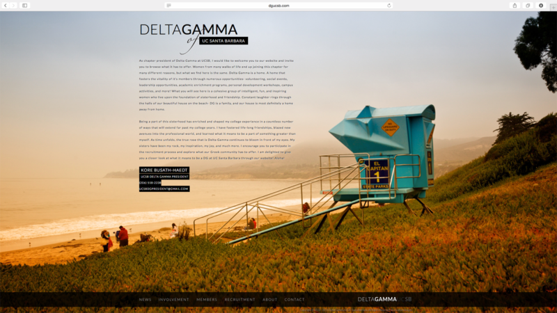 delta gamma ucsb website design and development