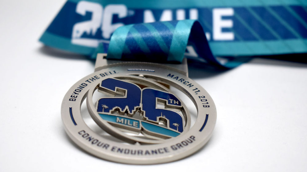 2018 26th mile medal by kb creative designs