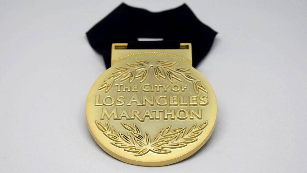 2018 los angeles marathon la loyal medal by kb creative designs